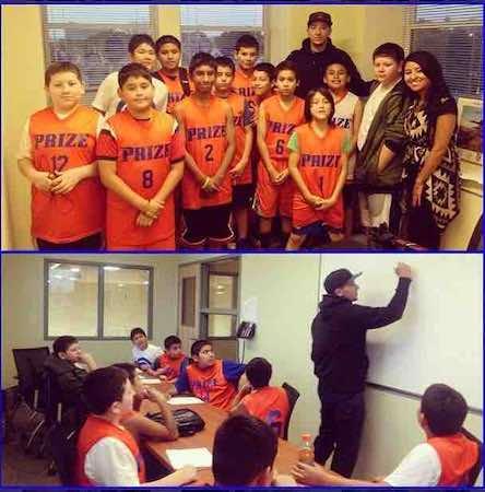 Chicago Prize Hoops, es un programa para que los niños tengan un éxito académico y practiquen baloncesto en Pilsen. Foto cortesía Chicago Prize Hoops
