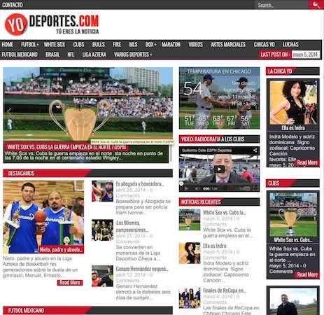 Yodeportes.com la página deportiva de Chicago. En Yodeportes.com tú haces la noticia.