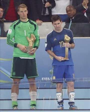 Lionel Messi gana el Balón de Oro al mejor jugador del Mundial. EFE