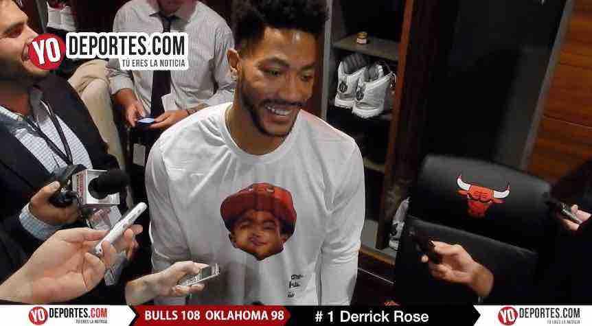 Derrick Rose Bulls vs Oklahoma City Thunder