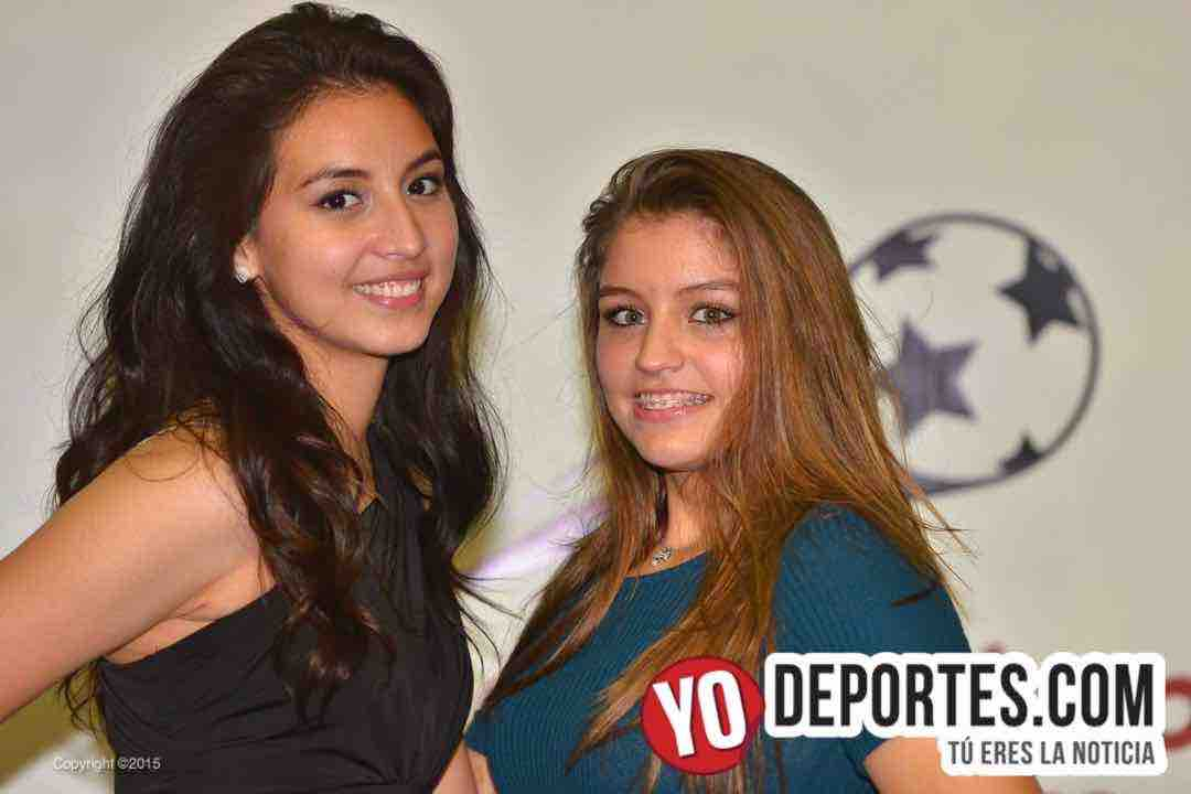 Rosa Pulido y Jenny Quiroz edecán de San Francisco Soccer League
