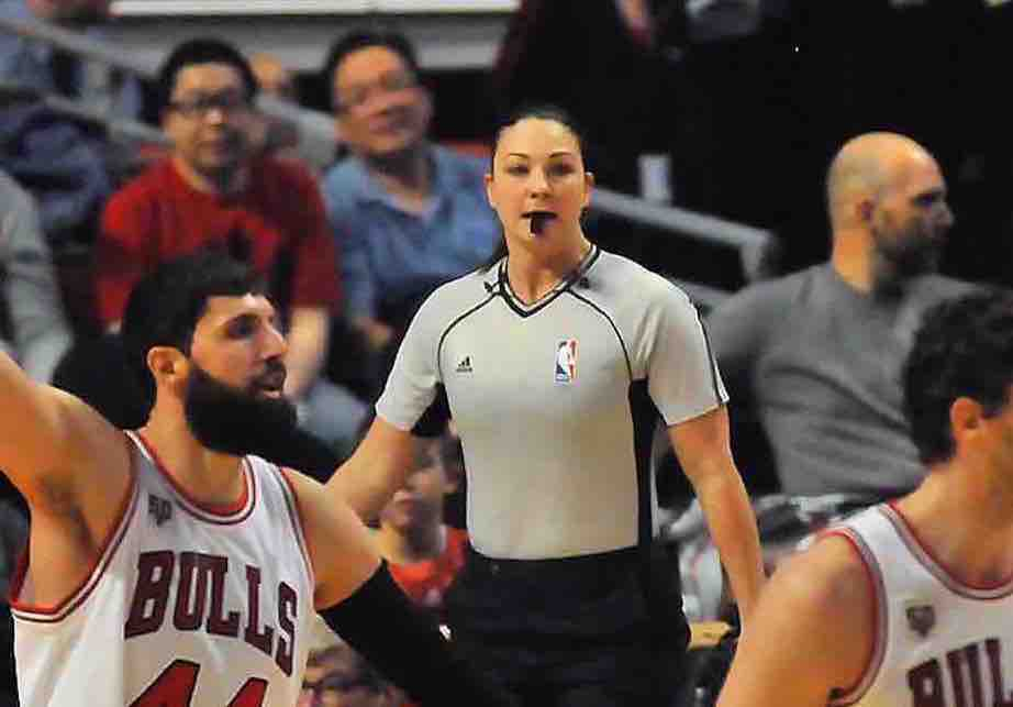Lauren Holtkamp referee Chicago Bulls Denver Nuggets