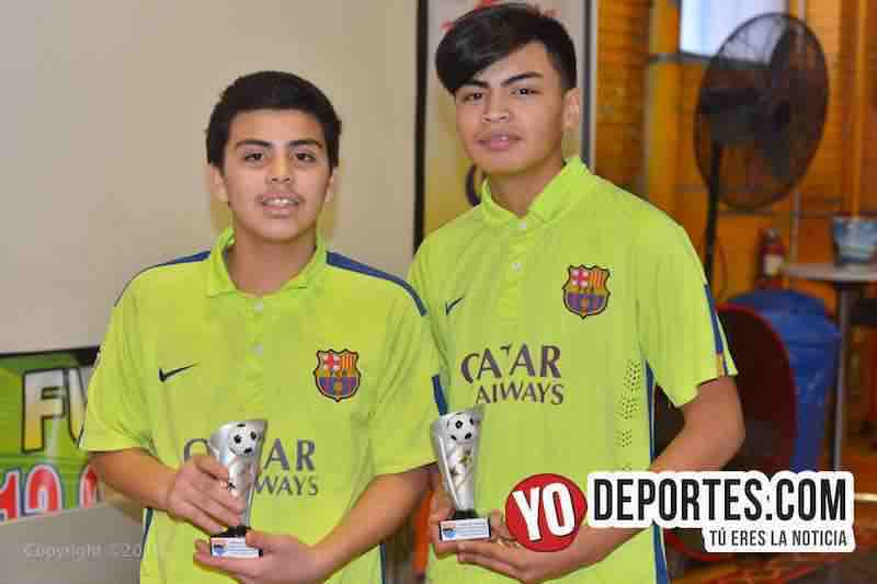 Jesus Castellanos y Enrique Padilla campeones de goleo en Chitown Futbol