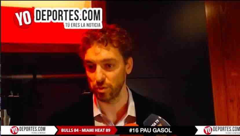 Pau Gasol duele perder con Miami Heat