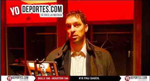 Pau Gasol contento porque ganan los Bulls