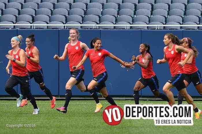 Las chicas USA ya están listas para mañana