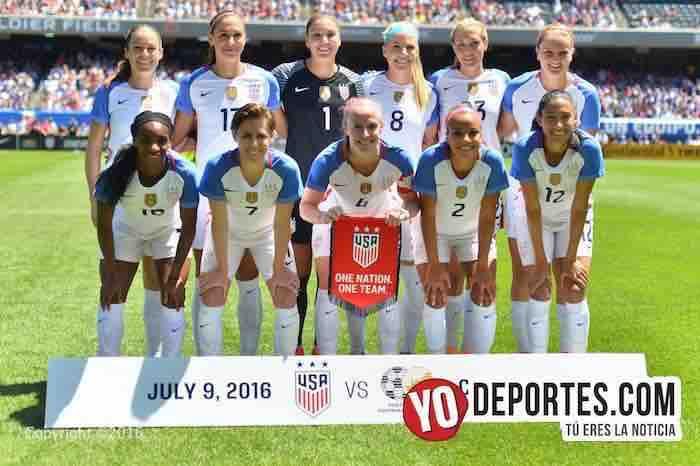 Chicas de USA pasan el examen en Chicago contra Sudafrica