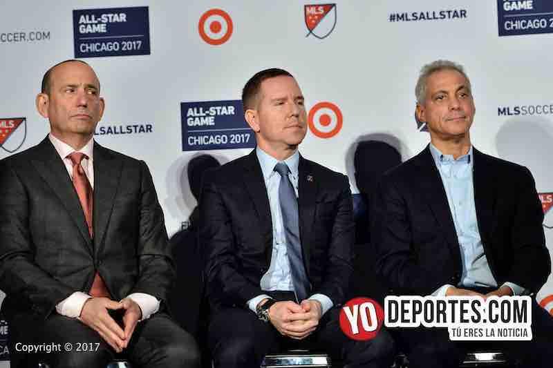 Don Garber-Andrew Hauptman-Rahm Emanuel-MLS Juego de estrellas chicago