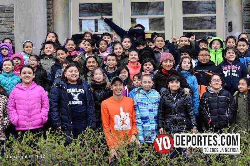 Diego Estrada-estudiantes escuela Hurley Elementary-Chicago Shamrock Shuffle