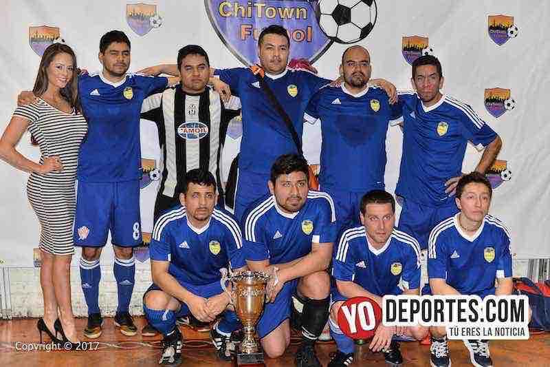 Los Sharks campeones de la division B de veteranos en Chitown Futbol