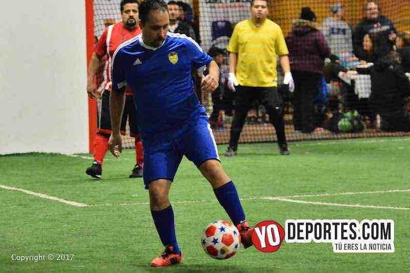 Sharks contra C.C. Company final de veteranos en Chitown Futbol-jueves
