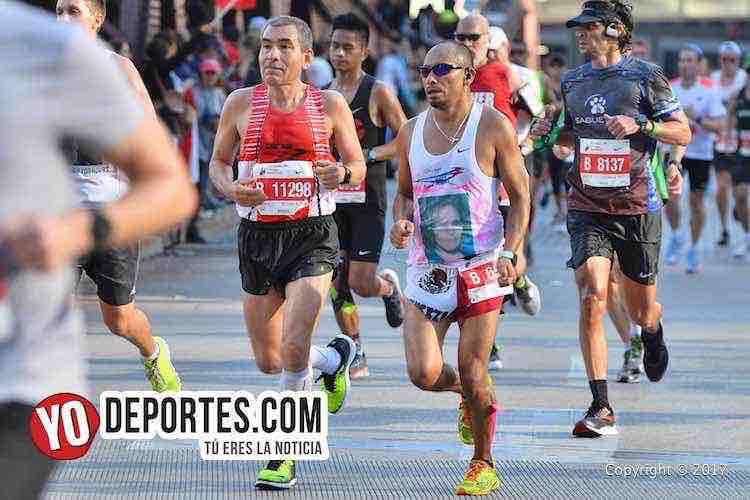 Francisco Guerrero y Bernabe Rogel en el Maraton de Chicago