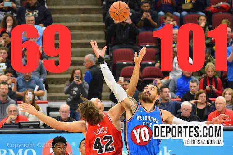 Los Thunder de Oklahoma aplastan a los Bulls de Chicago