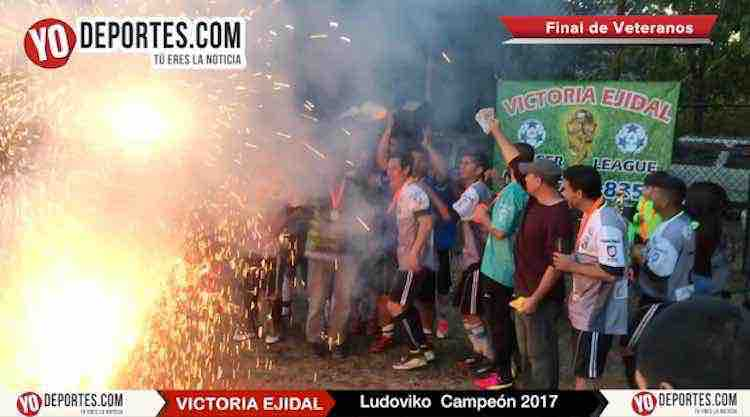 Explosiva final de veteranos en la Liga Victoria Ejidal