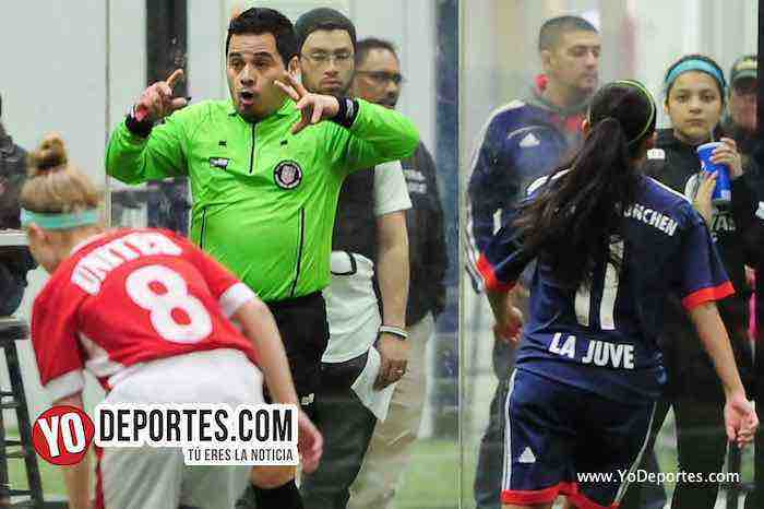 Arbitro Antonio Lopez-La Juve-United-AKD Premier Academy Soccer League
