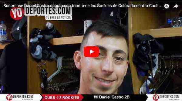 Daniel Castro debuta en Grandes Ligas con los Rockies de Colorado