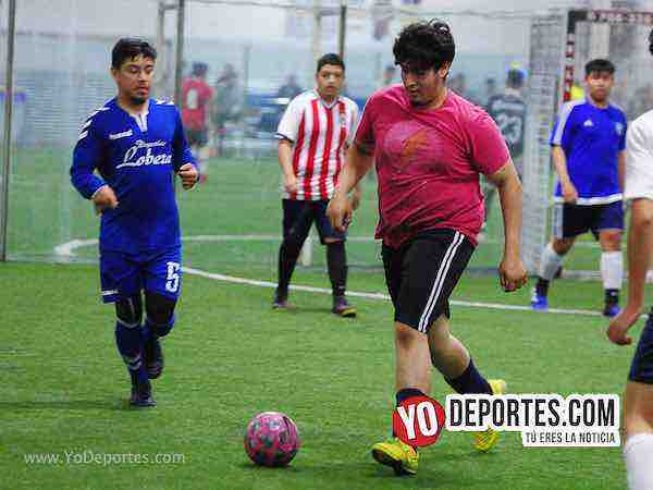 Nacional contra Morelos Jr semifinal de recopa en la Liga Matehuala Sports Zone de Melrose Park