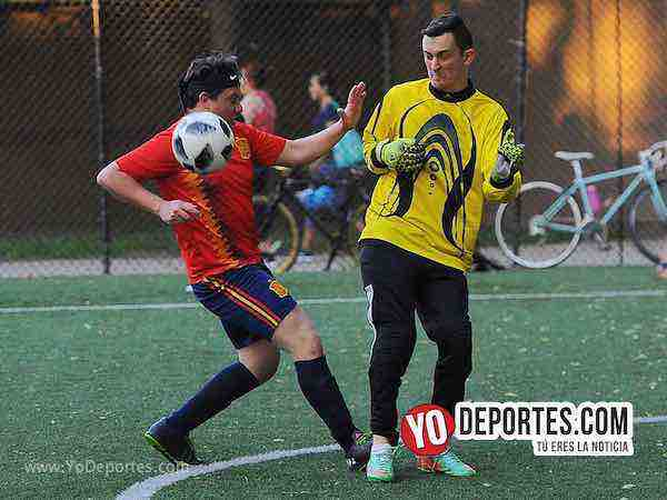 Estados Unidos-Espana-Mundialito-Illinois International Soccer League futbol