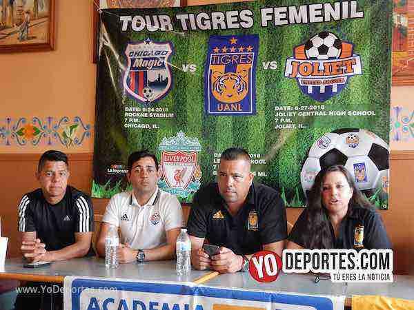 Oficializan el Tour Tigres Femenil UANL por Chicago Joliet y Michigan