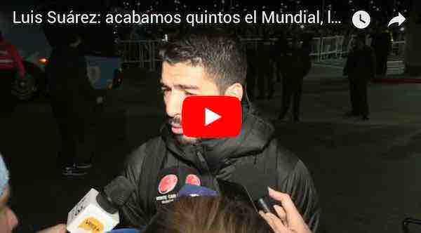 """Luis Suárez: """"Acabamos quintos el Mundial, la mejor de Sudamérica"""""""