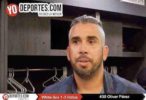 Oliver Pérez listo para una Serie Mundial con los Indios de Cleveland