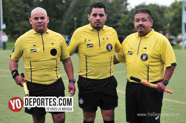 Arbitro Diego Rivera-Antonio Lopez-Octavio Cuellar-Blus Island-Chicago Real FC-Chicago Women Premier