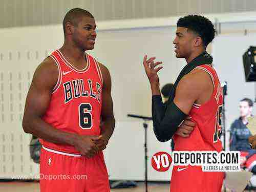 Cristiano Felicio-Chandler Hutchinson-Chicago Bulls Media Day