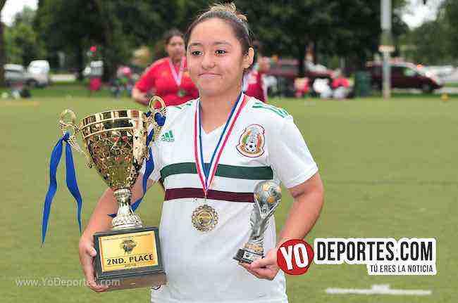 Itzel Calderon campeona de goleo Blus Island-Chicago Real FC-Chicago Women Premier
