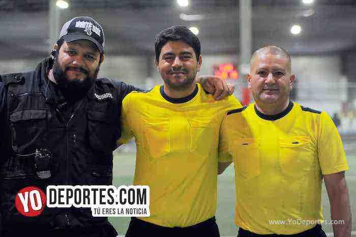 Arbitro Hugo Soto-Manny Duran-Jesse Aguirre-Chicago Flash-Cash in Flow-Liga Latinoamericana-miercoles
