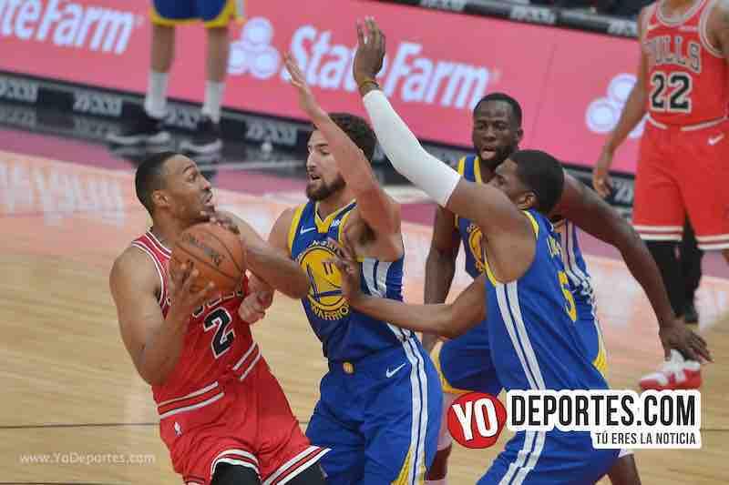 Histórica paliza de Golden State Warriors y Klay Thompson a los Bulls de Chicago