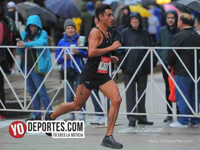 Roberto Saavedra de Leon-Mexico el mejor latino Chicago Maraton