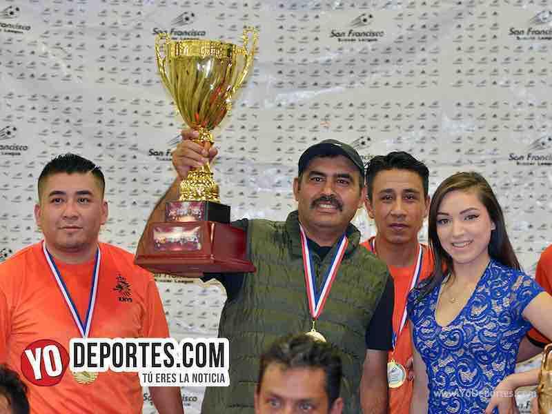 Rooferos FC campeones de veteranos en la Liga San Francisco
