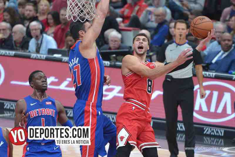 Zach Lavine-Chicago Bulls-Pistons Detroit-Opening Night United Center
