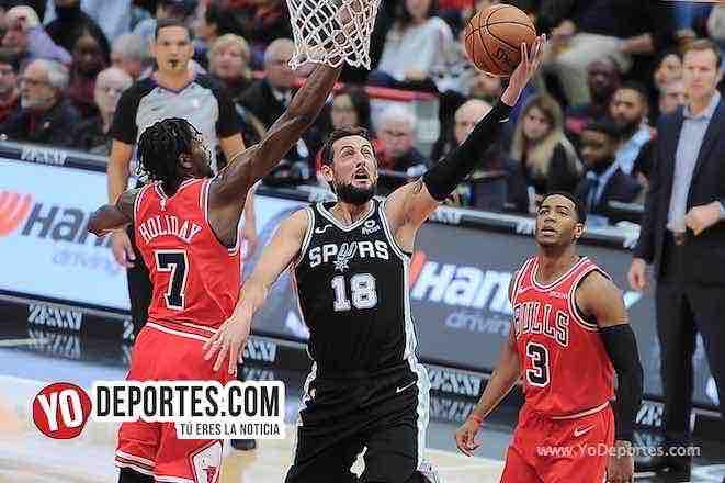 Bulls dejan ir el triunfo contra los Spurs de San Antonio