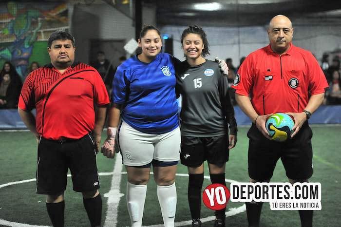 Arbitro Wilson Noriega-El Gato-Nancy Bahena-Deportivo Morelia-CD Vagos-Final Femenil Liga Interamericana