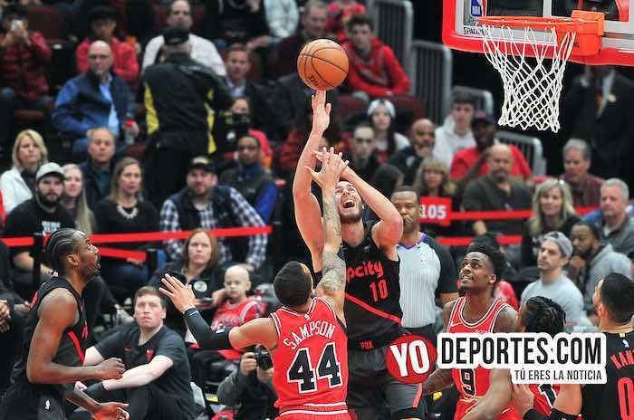 Brandon Sampson-Jake Layman-Chicago Bulls-Portland Trail Blazers United Center