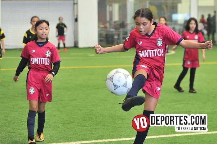 Las Matildas-Santitas-Liga Douglas Femenil Infantil indoor soccer