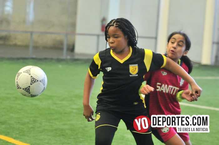 Las Matildas-Santitas-Liga Douglas Femenil indoor