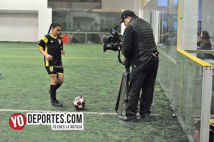 Las Matildas de la Liga Douglas saltan a la televisión nacional con Telemundo