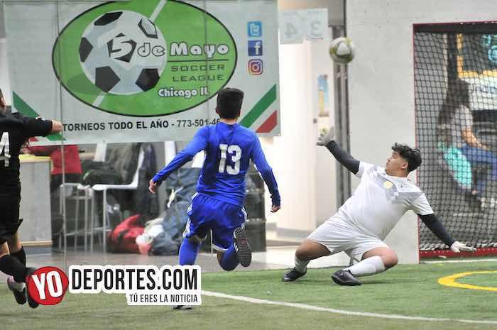 Arsenal-Deportivo Azul-Liga 5 de Mayo-juego de ida Chicago Indoor Sports
