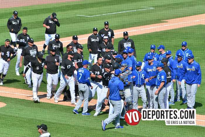 Chicago White Sox-Kansas City Royals se vaciaron las bancas Tim Andersom ejected