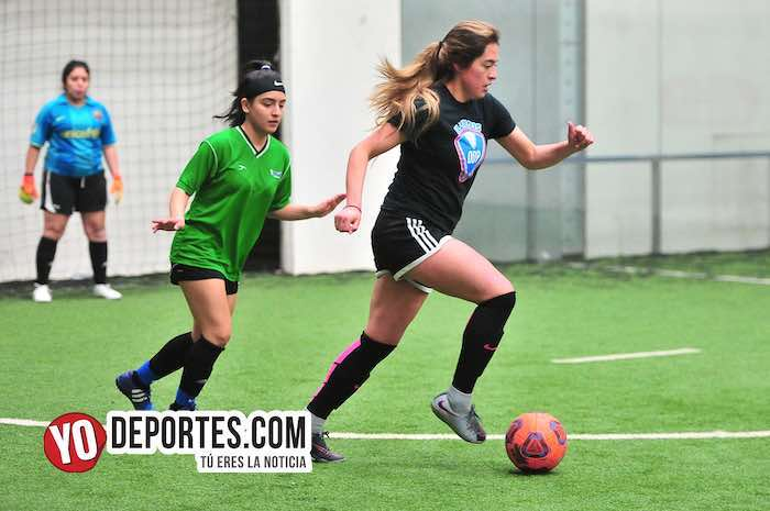 Fierro FC-Yasminas-Liga Douglas Femenil-martes futbol indoor