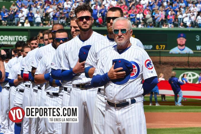 Joe Maddon-Kris Bryant-Chicago Cubs Wrigley Field-Opening Day 2019