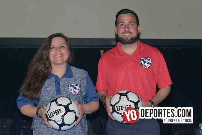 Lucy Montano-Ulises Ornelas-United Premier Soccer League presentacion equipos-Chitown Futbol