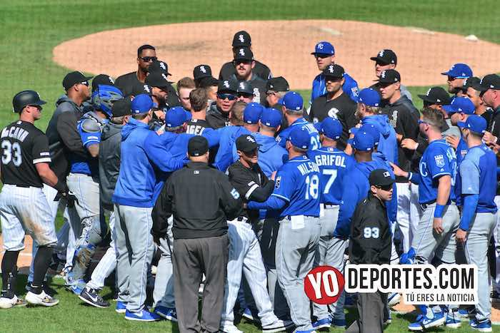 Se vaciaron las bancas de Chicago White Sox-Kansas City Royals