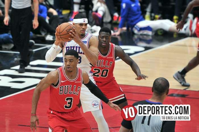 Shaquille Harrison-Tobias Harris-Chicago Bulls-de 76ers Philadelphia
