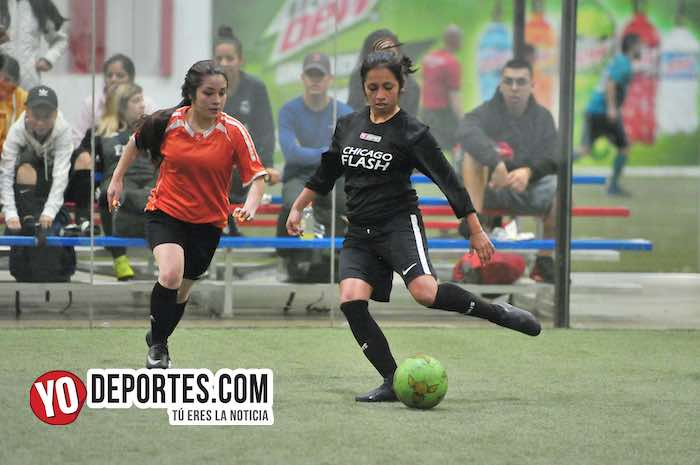 Chicago Flash-Atletico L-AKD Soccer League futbol femenil