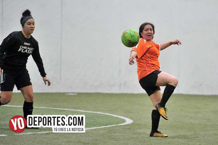 Chicago Flash-Atletico L-AKD Soccer League indoor femenil