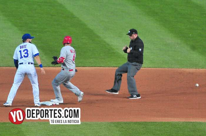 David Bote-Chicago Cubs-San Luis Cardenales Wrigley Field