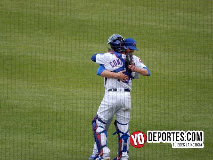 Kyle Hendricks-Willson Contreras-Chicago Cubs-Cardenales